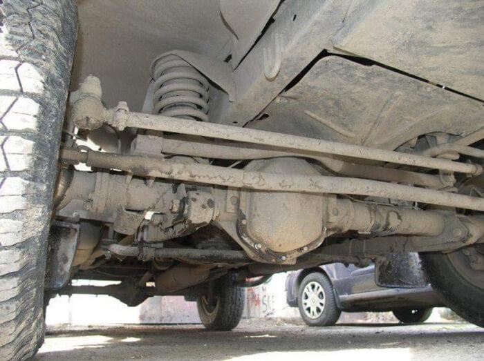 Зависимая подвеска легкового автомобиля