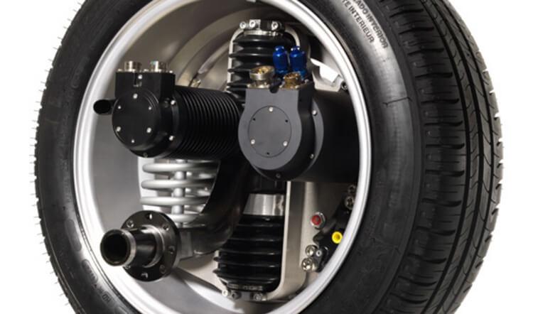 Активное колесо электромобиля