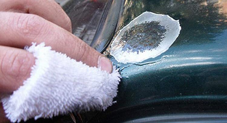 Ремонт сколов стеклотканью и эпоксидными смолами