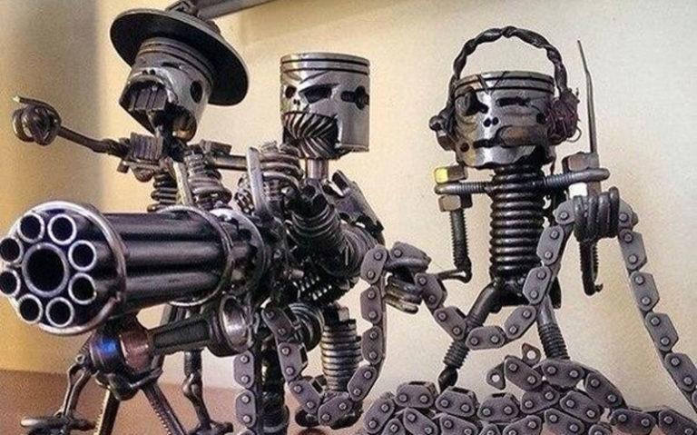 открытость, фото скелетов человека из автомобильных запчастей чем приступить