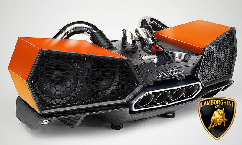 Photo of Стереосистема для смартфона в стиле суперкара Lamborghini Aventador