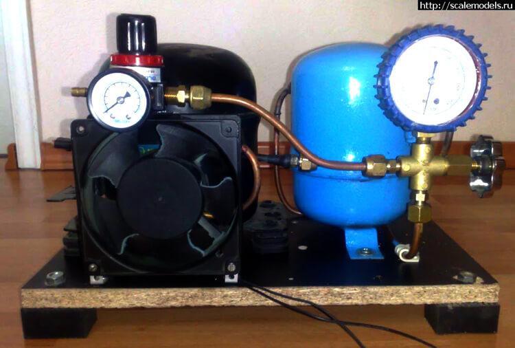 Самодельный компрессор с насосом от холодильника