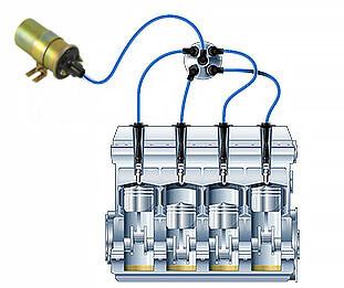 shema podklush - Устройство катушки зажигания автомобиля