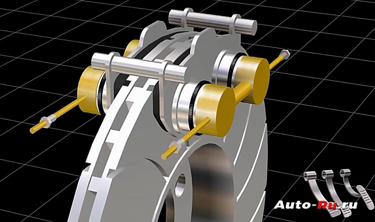 support work - Суппорт тормозной передний схема