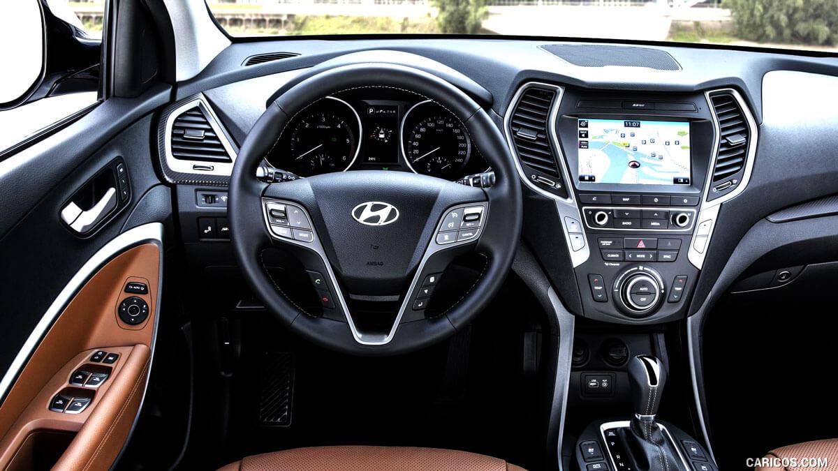 Интерьер Hyundai Santa-Fe