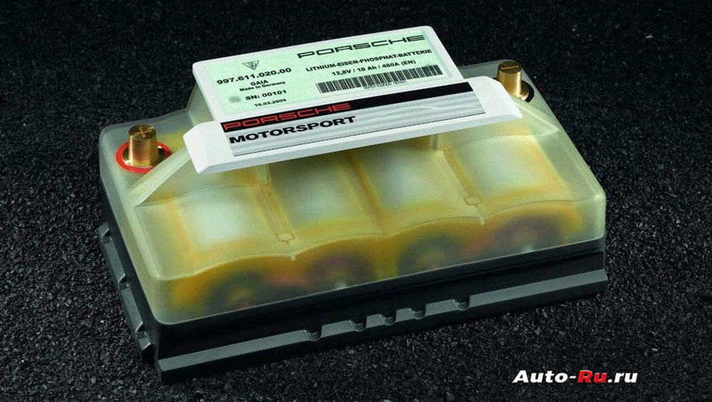 Литиевый аккумулятор для автомобиля Porshe