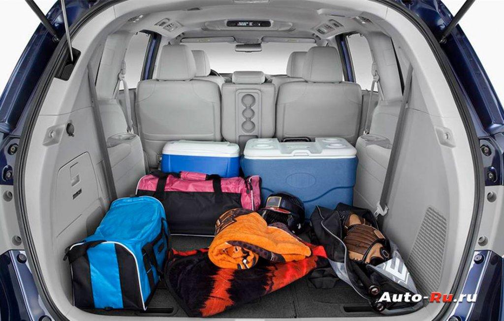 Honda Odyssey багажное пространство