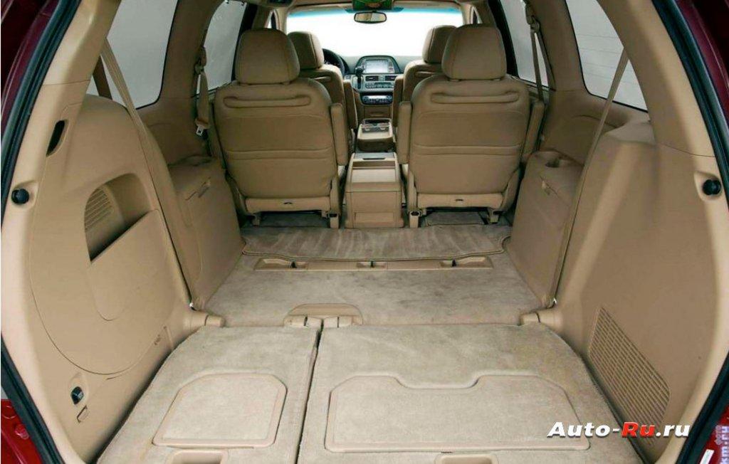 Honda Odyssey объемное бажное отделение