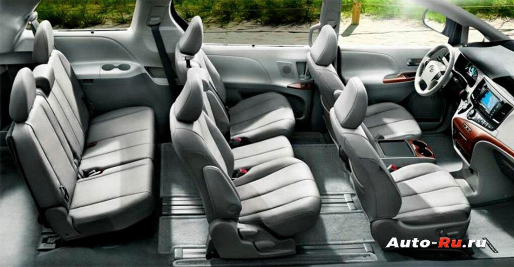 Toyota Sienna салон панорама